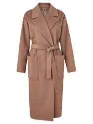 Jigsaw Luxury Wrap Coat Antique Pink