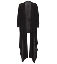 The Row Lacey Cashmere And Silk Open Cardigan Black