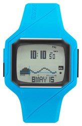 Men's Quiksilver 'The Addictive 2.0' Silicone Strap Watch 46Mm
