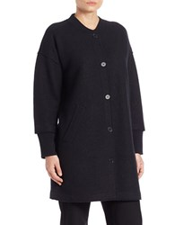 Eileen Fisher Boxy Wool Sweater Coat