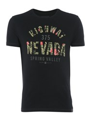 Criminal Nevada Text Graphic T Shirt Black