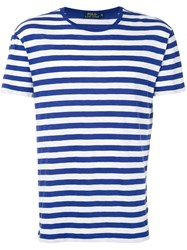 Polo Ralph Lauren Striped T Shirt Men Cotton S White