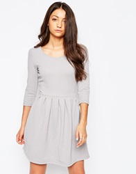 Vila 3 4 Sleeve Skater Dress Silversconce