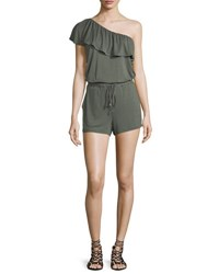 Ella Moss Bella One Shoulder Romper Olive