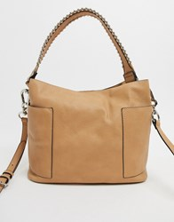 Steve Madden Teddy Tote In Camel Tan