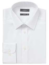 John Lewis Non Iron Twill Double Cuff Tailored Fit Shirt White