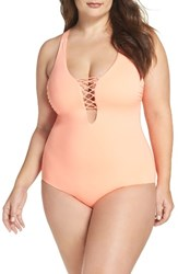 Becca Etc Plus Size Women's Etc. Victoria One Piece Swimsuit