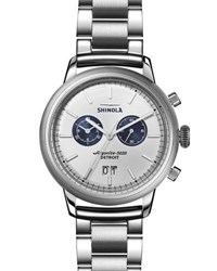 Shinola Men's Bedrock Bracelet Watch Silver