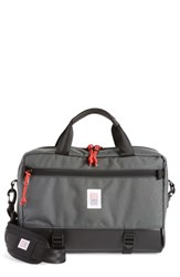 Topo Designs 'Commuter' Briefcase Grey Charcoal Black Leather