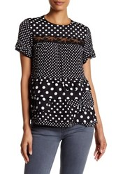 Marc By Marc Jacobs Dot Print Ruffled Lace Blouse Multi
