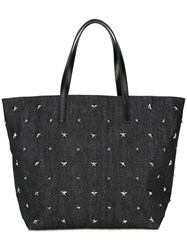 Red Valentino Star Studded Tote Black