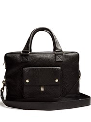 Balmain Grained Leather Tote Black