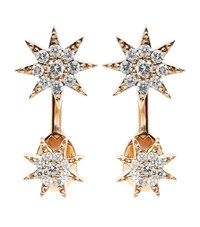 Bee Goddess Star Drop Earrings Female Gold