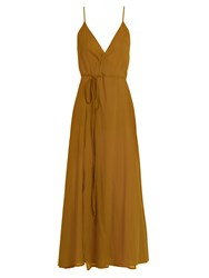 Loup Charmant Ballet Wrap Cotton Dress Camel