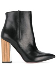 Albano Pointed Contrast Heel Boots Black