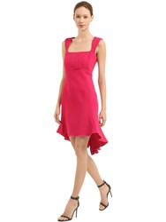 Antonio Berardi Stretch Cady Dress Fuchsia