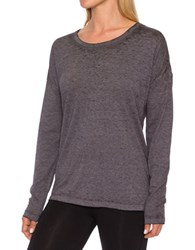 Betsey Johnson Long Sleeve Pullover Grey