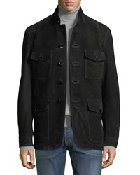 Tom Ford Nubuck Suede Four Pocket Safari Jacket Black