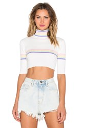 Unif Relly Crop Top White