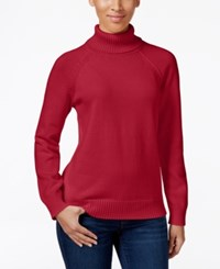 Karen Scott Petite Turtleneck Sweater Only At Macy's New Red