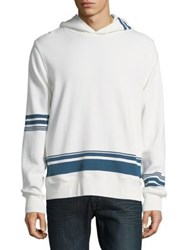 Lucky Brand Seaside Cotton Hoodie White Blue