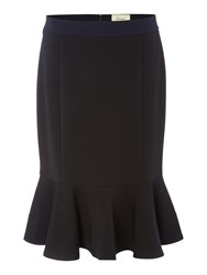 Linea Coulorblock Flippy Skirt Black