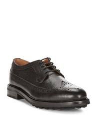 Polo Ralph Lauren Nyles Pebbled Leather Oxfords Black