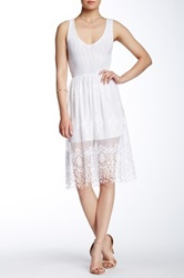 Everleigh Sleeveless Lacy Dress White