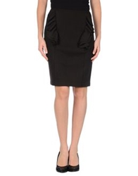 Fendi Knee Length Skirts Dark Brown