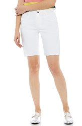 Sam Edelman The Harriette Raw Hem White Denim Bermuda Shorts Sammie