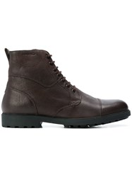 Geox Ankle High Boots Brown