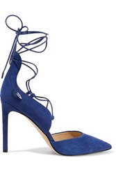 Sam Edelman Helaine Suede Lace Up Pumps Royal Blue