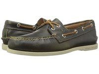 Sperry A O 2 Eye Waterloo Green Men's Lace Up Moc Toe Shoes