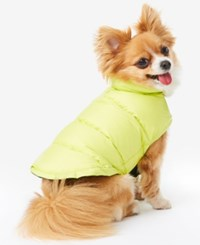 32 Degrees Reversible Down Puffer Coat For Dogs Scuba Lime