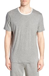 Daniel Buchler Pima Cotton And Modal Crewneck T Shirt Grey Heather