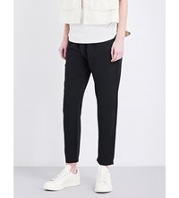 The Great Harem Cropped Cotton Trousers Black