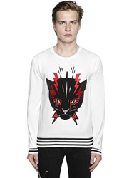 Just Cavalli Angry Cat Cotton Sweater
