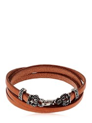 Alcozer And J. Crowns Leather Wrap Bracelet