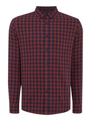 Criminal Mercer Long Sleeved Shirt Red