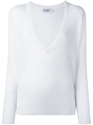 Brunello Cucinelli V Neck Jumper White
