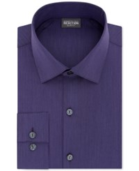 Kenneth Cole Reaction Techni Stretch Slim Fit Solid Dress Shirt Purple