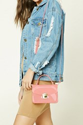 Forever 21 Silicone Crossbody Bag Pink