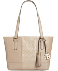 Giani Bernini Pebble Weave Tote Created For Macy's Cappuccino