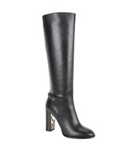 Burberry Marston Knee High Boot Black