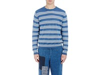 Loewe Men's Striped Linen Blend Jacquard Sweater No Color