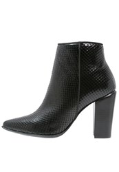 Bronx High Heeled Ankle Boots Black