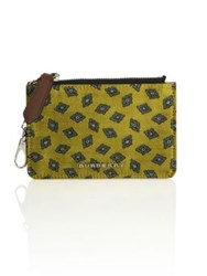Burberry Textured Leather Blend Wallet Citrus Yellow