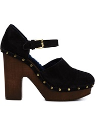 L'autre Chose Platform Mary Jane Pumps Black