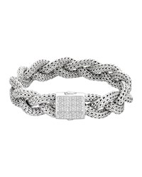 Classic Chain And Pave Diamond Bracelet John Hardy Silver