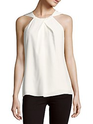 Lafayette 148 New York Parker Sleeveless Silk Blouse Cloud